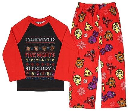 b5569dcf8 Five Nights at Freddys Boys Girls 5 Nights Pajama Set Freddy Holiday Shirt  Pants (Medium
