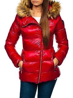 BOLF Damen Winterjacke Steppjacke Jacke Reißverschluss Zip