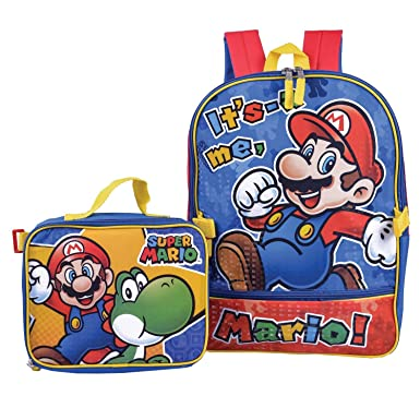 e9beb2c7f0d5 Super Mario Backpack Combo Set - Nintendo Super Mario 2 Piece Backpack  School Set (Red