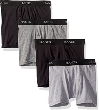 Hanes Boys Big Ultimate Dyed Boxer Brief 4-Pack