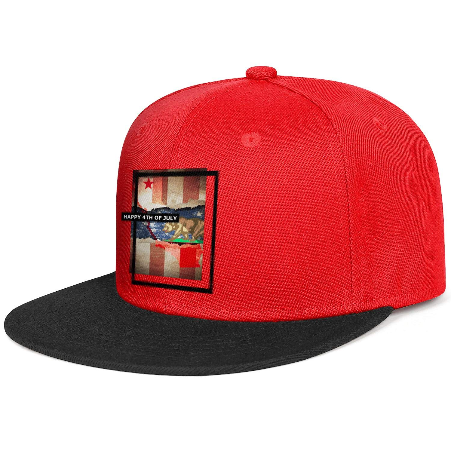Unisex Mesh Snapback Caps Love Independence Day Patriotic Kitten Flat Hip Hop Baseball Hats