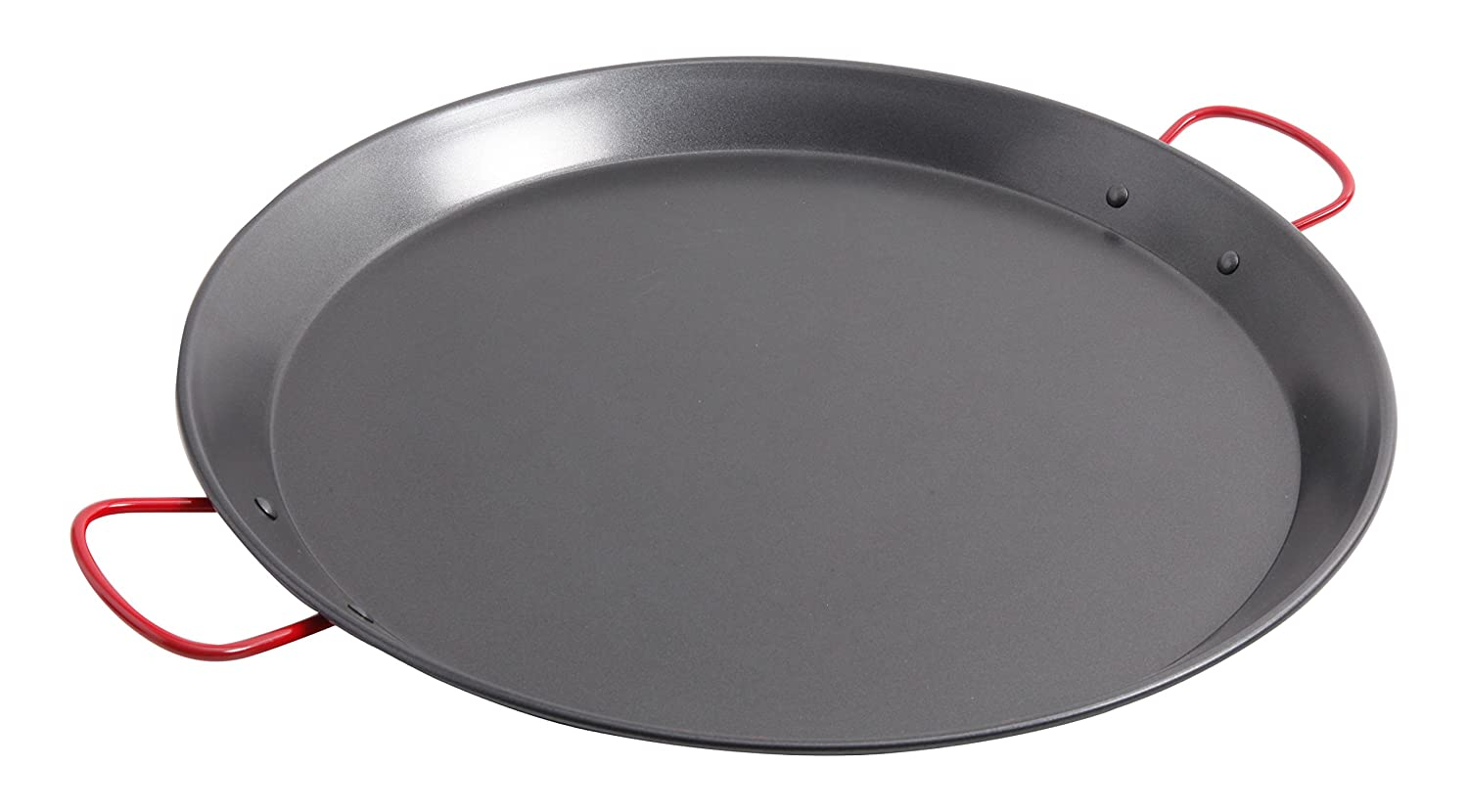 Amazon.com: Oster Cocina 111894.01 Corrales Paella Round Carbon Steel Pan with Stainless Steel Handles, Red: Kitchen & Dining