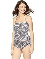 A Pea in the Pod Embroidery Maternity Tankini Swimsuit