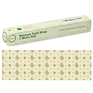 Navega Beeswax Wrap - 1 Metre Roll (13 x 39'') Reusable Food Wrap |  Sustainable Food Storage | Sandwiches, Cheese, Fruit, Bread | Cotton,  Beeswax,