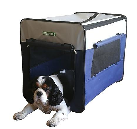 Transportín de tela para perros, plegable, con cama incluida, modelo 3055, de