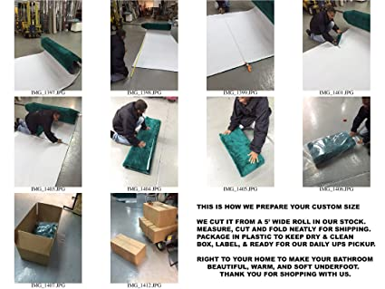 Wall To Wall Bathroom Carpet   100% Nylon   5ft. Wide (Custom Lengths