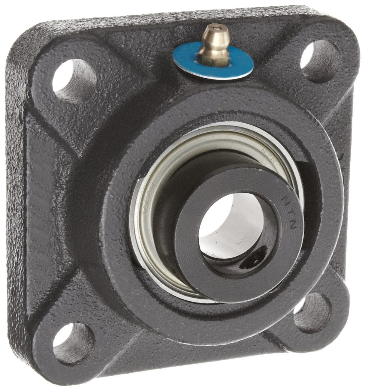 4-9//32 Height Contact Seals Eccentric Lock Regreasable 1-3//16 Bore 3-1//4 Bolt Hole Spacing Width Cast Iron NTN JELFU-1.3//16 Flange Bearing 4 Bolts Inch