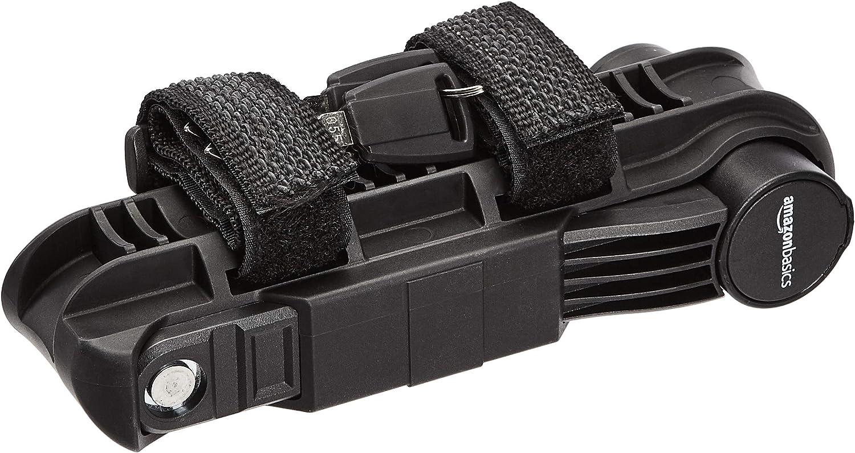 Black 1-Pack Basics Folding Bike Lock