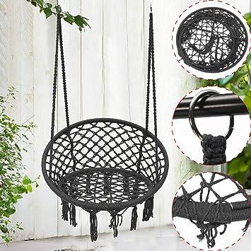 safetyon outdoor hammock chair indoor livingroom hanging macrame rh amazon co uk