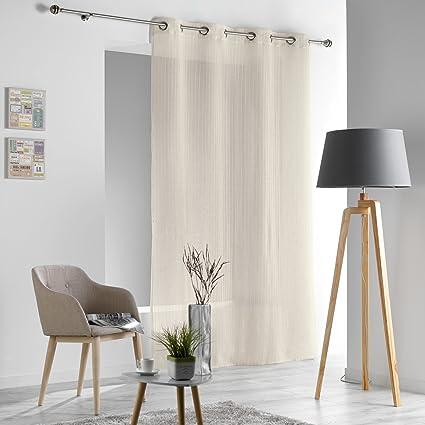 cortina con ojales de polister y lino natural douceur dintrieur sofiane natural