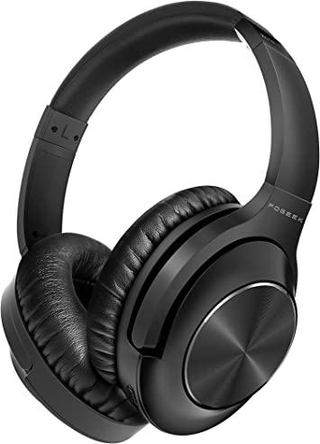 Amazon Com Active Noise Cancelling Headphones Fogeek Apollo 1 Bluetooth Headphones Over Ear With Mic Deep Bass Hi Fi Sound Comfortable Protein Earpads Wireless Headphones For Traveling Sporting Tv Pc Cellphone Electronics