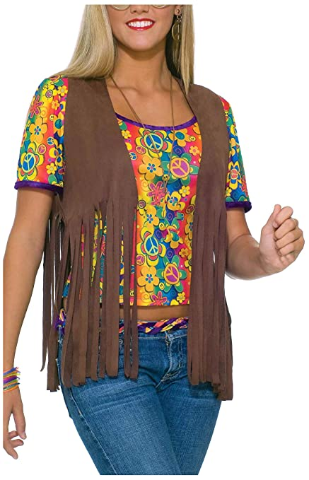 Hippie Costumes, Hippie Outfits Forum Novelties Womens 60s Hippie Vest Costume Accessory $13.79 AT vintagedancer.com