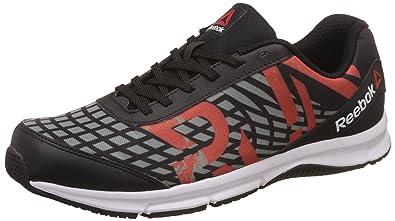 Reebok Men s Super Duo Run Black and Grey Running Shoes - 10 UK India ( da567ffc7