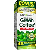 Purely Inspired Green Coffee Bean, Weight Loss Supplement, Non-Stimulant 100% Pure...
