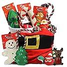 Guaranteed4Less Christmas Dog Toys Xmas Bundle Squeaky Play Fetch Bite Chew Bones Balls Treats