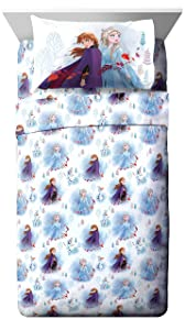 Jay Franco Disney Forest 4 Piece Full Sheet Set, Frozen 2 Spirit