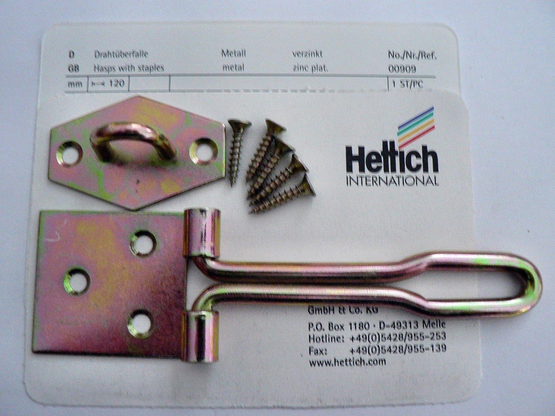 120 mm Hettich Draht/überfalle verzinkt 1 St/ück Artikelnr 909
