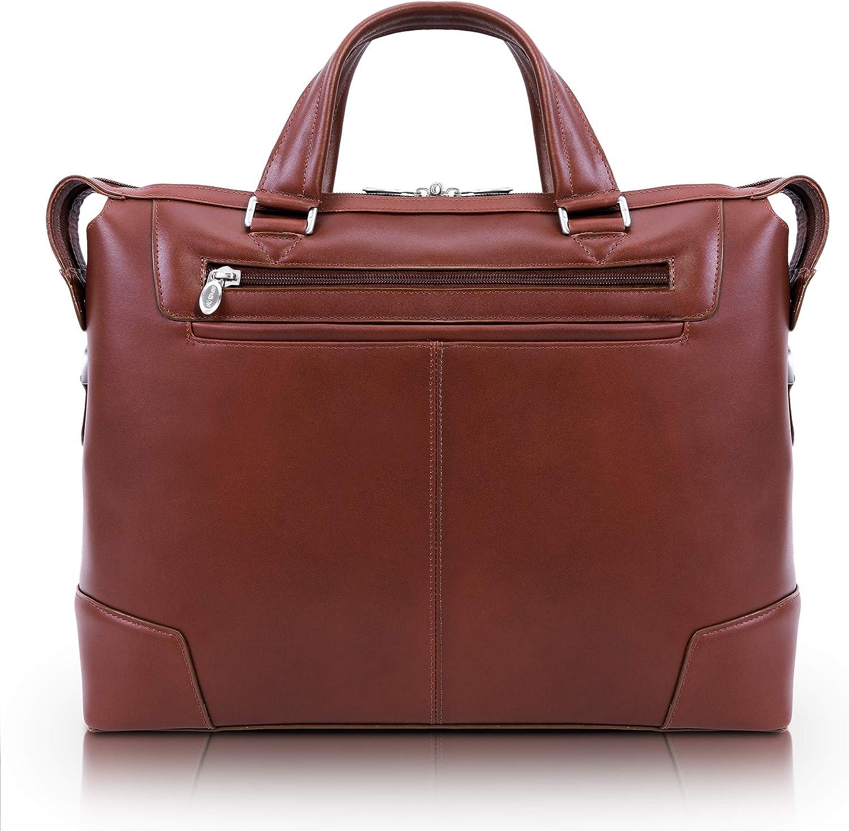 "McKlein R Series Arcadia 17"" Leather Slim Laptop Briefcase"