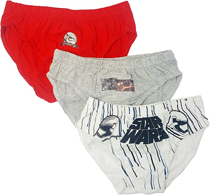 Pack 3 Slips Star Wars Infantil Talla 5-6 años: Amazon.es: Ropa y ...