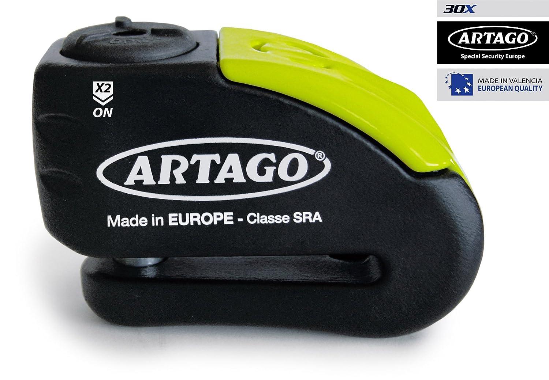 Amazon.com: artago 30 x 10 Anti-Theft Disk with Alarm High Range, Double Closure Ø10, homologated SRA, Bunker Selection: Automotive