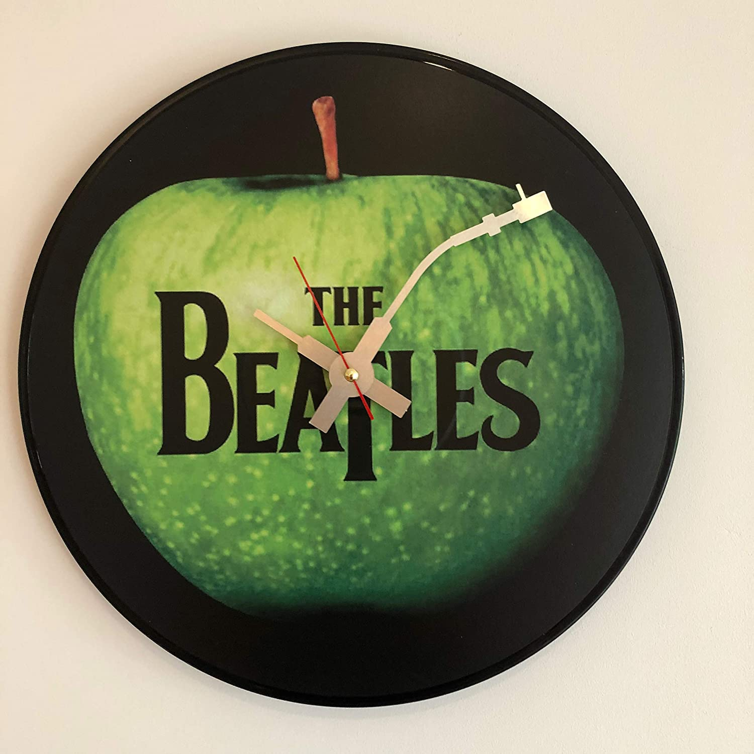Horloge Murale embl/ématique Beatles Apple Vinyle.