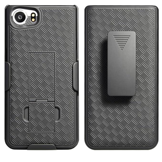 Amazon.com: Blackberry Keyone Case Verizon tmobile at&t att Unlocked Black Edition With Belt Clip Holster Dual Layer Shell (Tungsten) : Cell Phones & ...