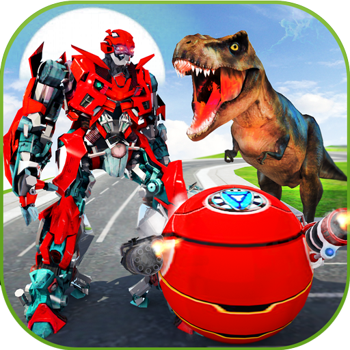 US Police Ball Robot Transform VS Wild Dino Attack ()