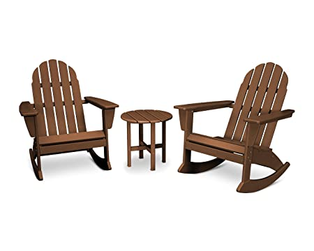 Vineyard 3-Piece Adirondack Set Teak
