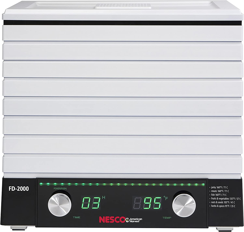 NESCO FD-2000, Digital Square Dehydrator, White, 530 watts