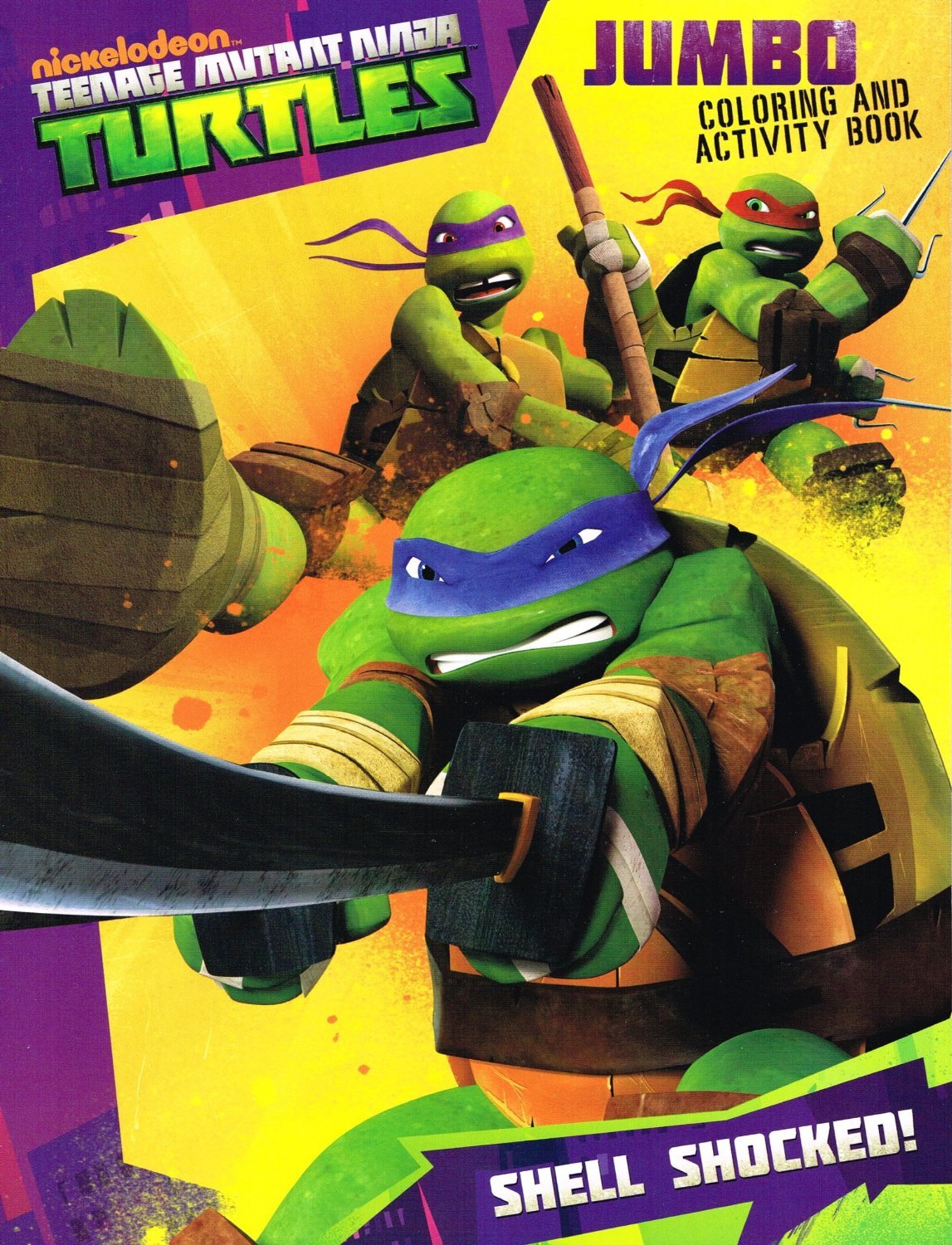 amazoncom teenage mutant ninja turtles jumbo coloring activity book 96pgs shell shocked toys games - Teenage Mutant Ninja Turtles Coloring Book