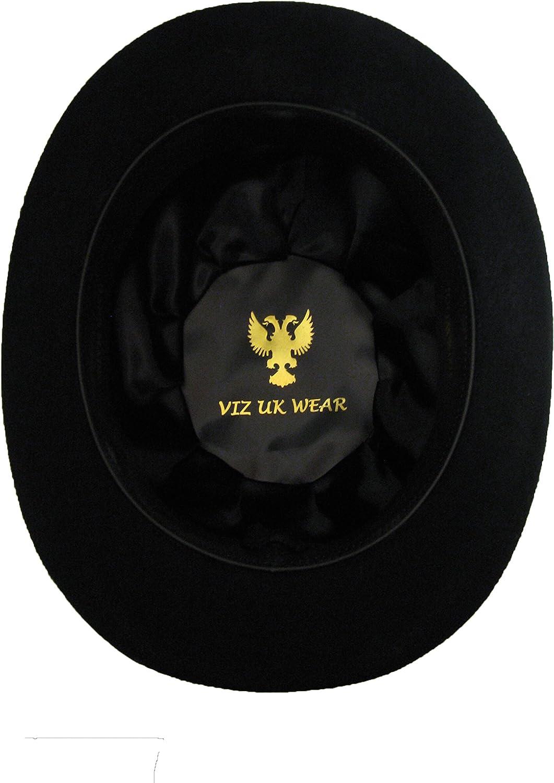 Cappello da bowler in 100/% lana foderato in raso VIZ-UK Wear