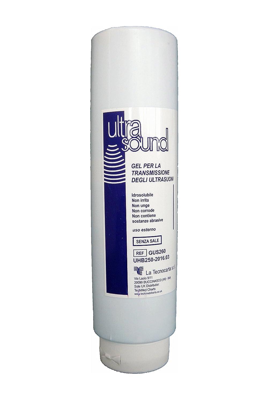 GUS260 Gel conductor de ultrasonidos en frasco de 250ml