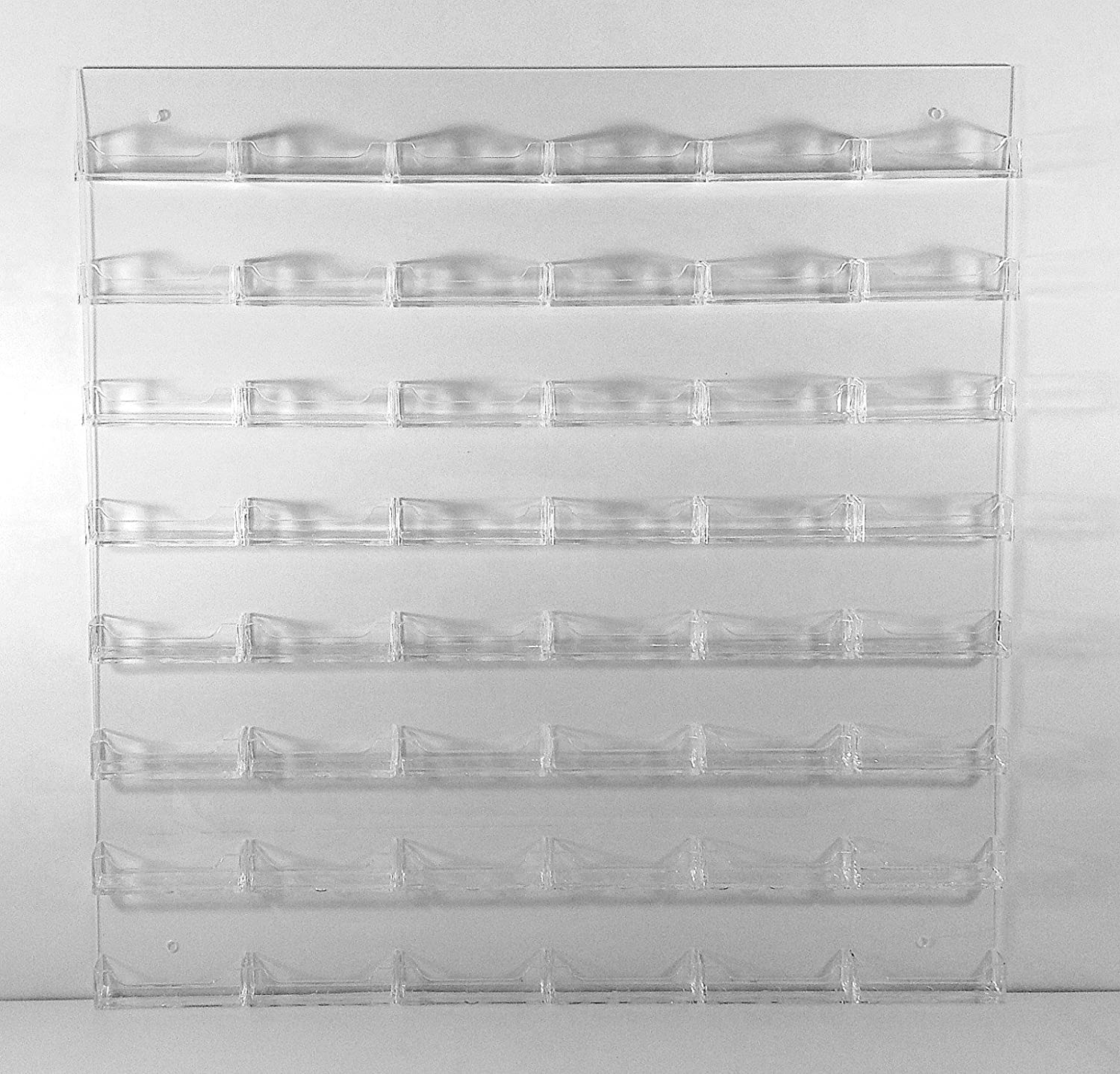 Amazon.com : Dazzling Displays Clear Acrylic 48-Pocket Wall-Mount ...