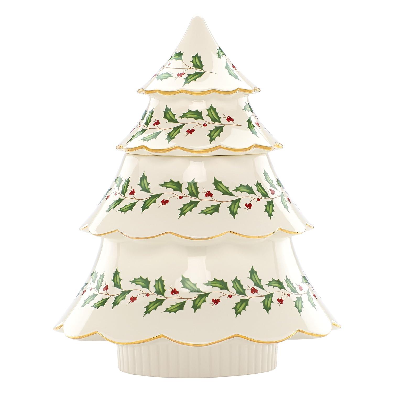 Amazon.com: Lenox Holiday Tree Cookie Jar, Ivory: Kitchen & Dining