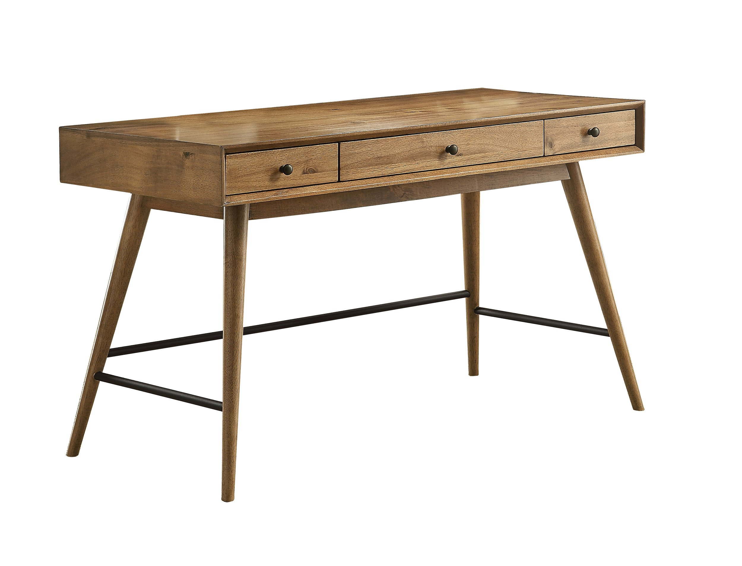 Homelegance Lavi Writing Desk with Drawers and Tapered Legs, Pine Finished