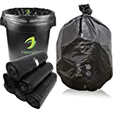 NaturePac Garbage Bags Biodegradable For Kitchen, Office, Extra Large Size, (76 cm x 94 cm)/(30 Inch x 37 Inch),Black, (90 Bags)