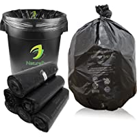 NaturePac Garbage Bags Biodegradable For Kitchen,Office,Large Size (60cmx81cm)/(24 Inchx32 Inch),(90 Bag).