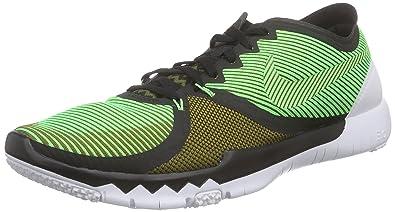 quality design 9bcd8 ec149 Nike Herren Free Trainer 3.0 V4 Hallenschuhe, Grün (Schwarz Milizgrün Weiß