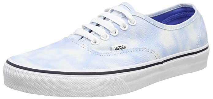 Vans Unisex-Erwachsene Authentic Low-top Blau Tie Dye Palace Blue