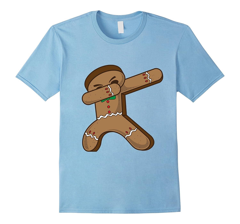 Dabbing Gingerbread T-Shirt Christmas Dab Hip Hop Holidays-FL