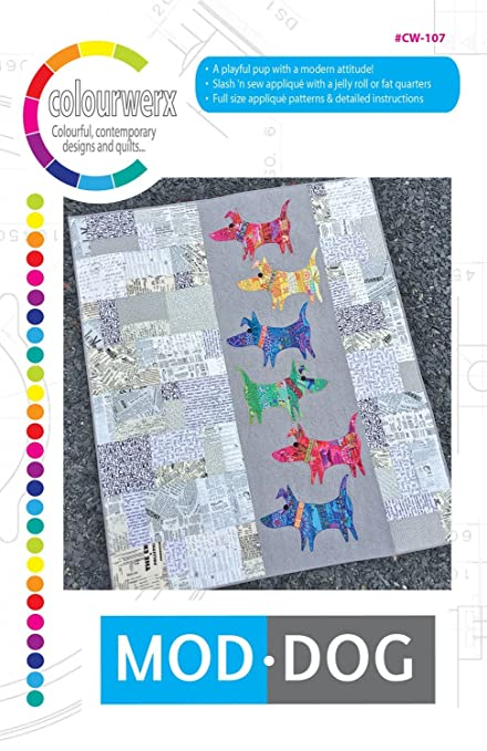 Amazon Mod Dog Quilt Pattern by Linda Carl Sullivan from Inspiration Dog Quilt Patterns