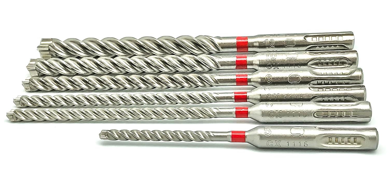 Set of 6 /12/mm Drill Bit for Concrete CX /7613023579243//M1/SDS Drill Bit Set 5/ HILTI Original 6/Pieces