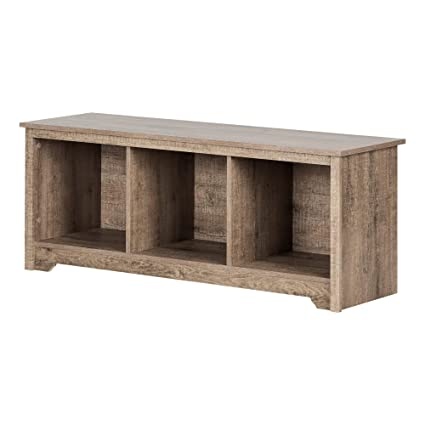 Admirable South Shore 12315 Vito Storage Bench Weathered Oak Short Links Chair Design For Home Short Linksinfo