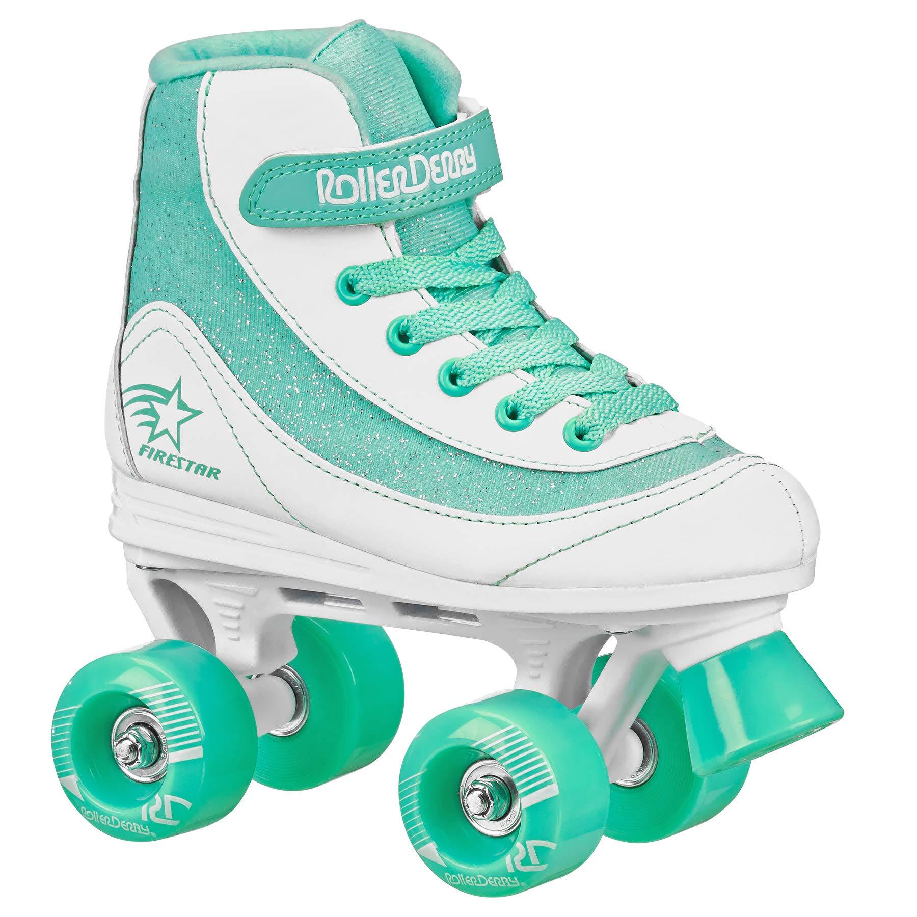 FireStar Youth Girl's Roller Skate (White/Mint, 1)