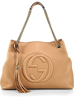 3cacd51976ad8c Amazon.com: Gucci Soho Large Leather Chain Shoulder Handbag Pink ...
