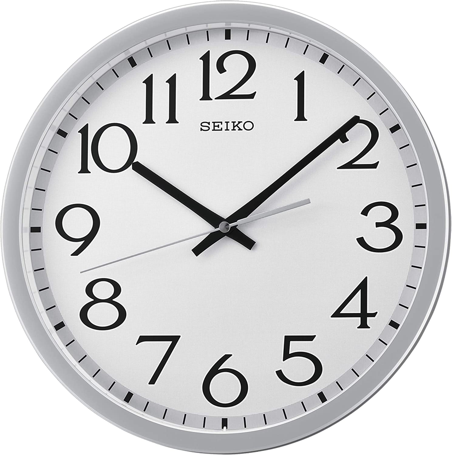 """Seiko 12"""" Easy Read Wall Clock with Quiet Sweep Second Hand"""