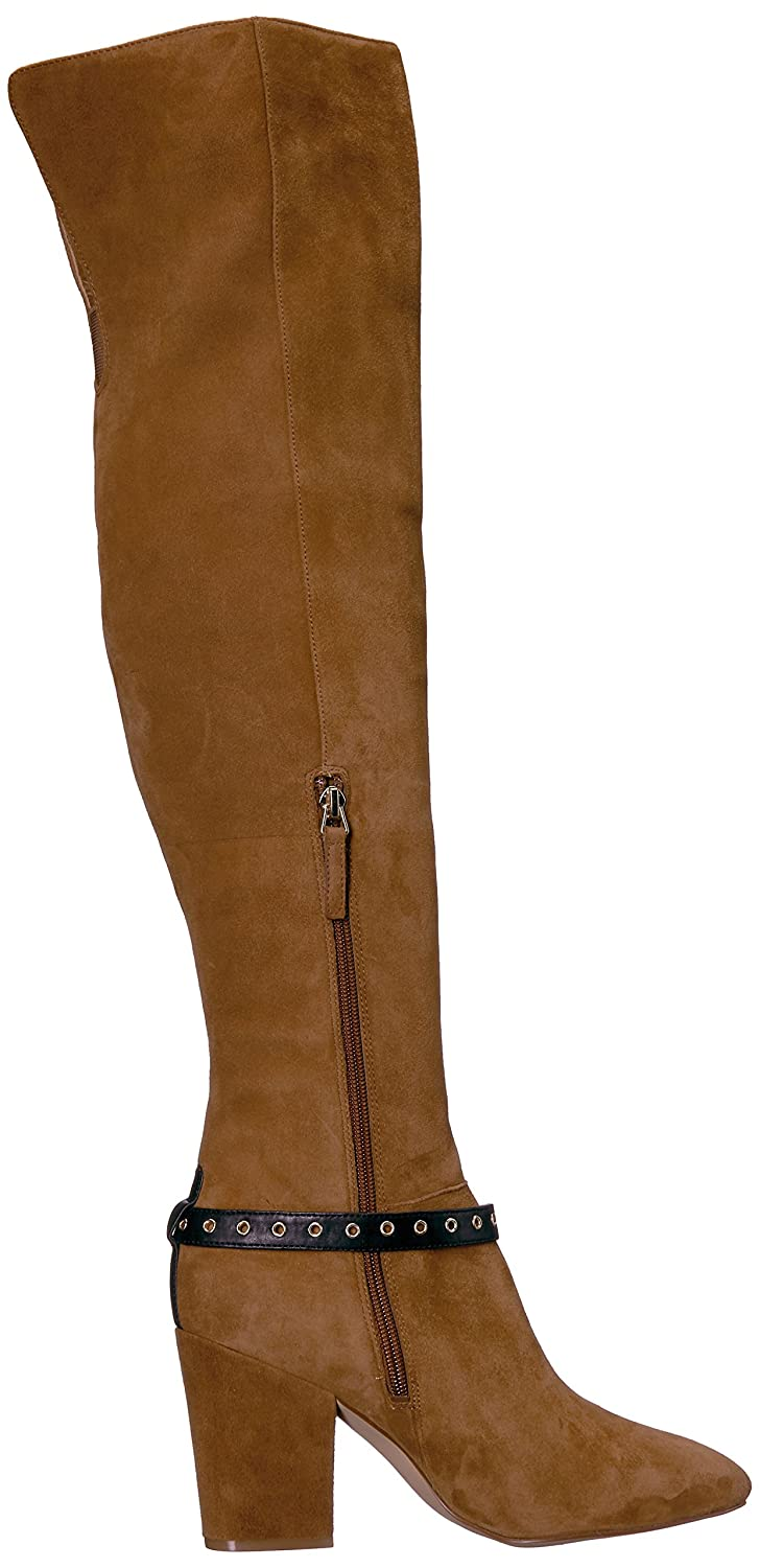 Nine West Women's Sandor Knee High Boot Suede B01N19IX47 9 B(M) US|Brown/Black Suede Boot fa13e9