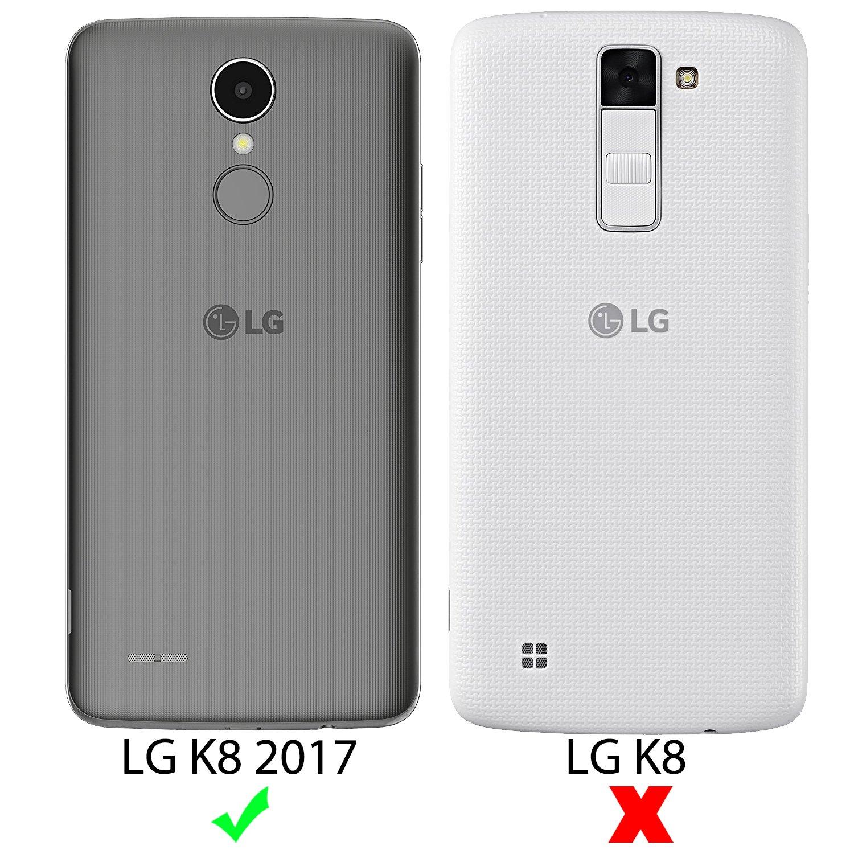 SLEO Funda LG K8 2017, Slim Fit TPU Carcasa de Parachoques Case Traslúcido Suave con Absorción de Impactos y Resistente a los Arañazos para LG K8 2017 ...