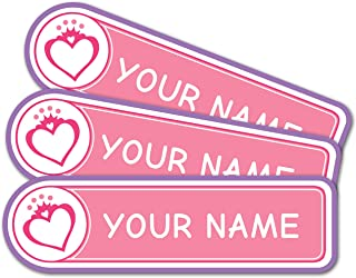 product image for Personalized Custom Multi-Use Labels, Waterproof, Dishwasher and Microwave Safe, Princess (28 Pack)