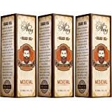 Captain Thug Medieval - All Natural Organic Argan & Jojoba Oils – Softens, Smooths & Strengthens Beard Growth – Grooming Beard and Mustache Maintenance Treatment, 3 Pack
